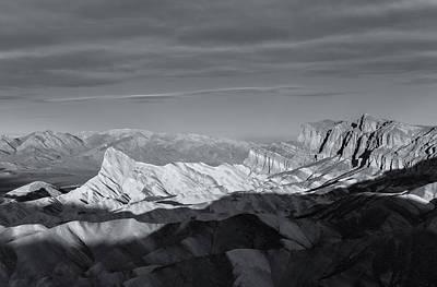 Photograph - Zabriskie Bw by Jonathan Nguyen