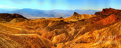 Photograph - Zabriskie Point Afternoon Panorama by Adam Jewell