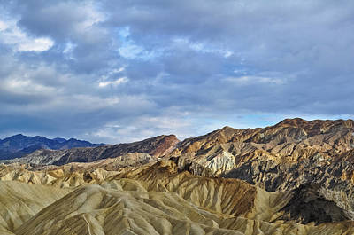 Photograph - Zabriskie Point Badlands Sunset by Kyle Hanson