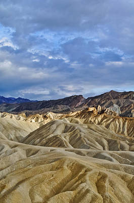 Photograph - Zabriskie Point Death Valley Badlands Portrait by Kyle Hanson