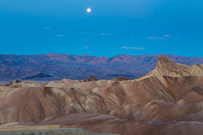 Photograph - zabriskie point full Moon  by Duncan Selby