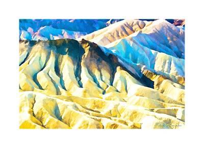 Death Valley Digital Art - Zabriskie Point by Steven Wilson