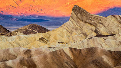 Photograph - Zabriskie Point Sunrise Death Valley by Pierre Leclerc Photography