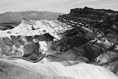 Photograph - Zabriskie Point Black And White by Suzanne Oesterling