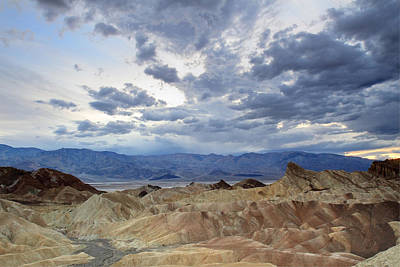 Photograph - Zabriskie Point Twilight Death Valley by Pierre Leclerc Photography