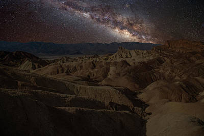 Photograph - Zabriskie Point With Milky Way by Marius Sipa