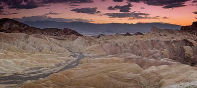 Photograph - Zabriskie Sunset V by Ricky Barnard