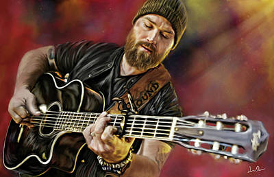 Tennessee. Country Music Digital Art - Zac Brown by Don Olea