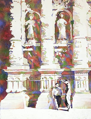 Painting - Zacatecas Cathedral by Ryan Fox