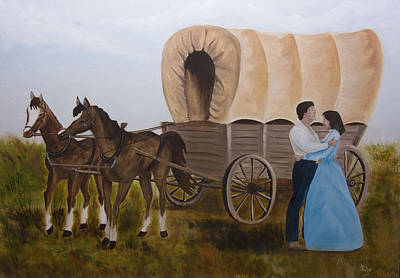 Conestoga Painting - Zach And Eliza by Julie Gerber