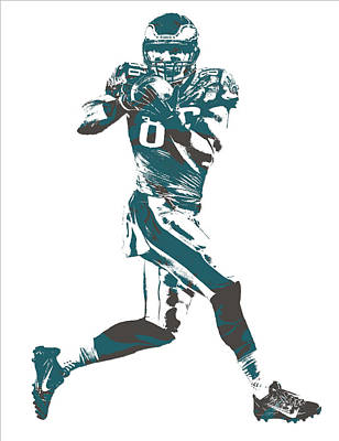 Eagle Mixed Media - Zach Ertz Philadelphia Eagles Pixel Art 1 by Joe Hamilton