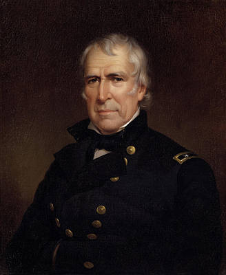 War 1812 Painting - Zachary Taylor - Old Rough And Ready by War Is Hell Store