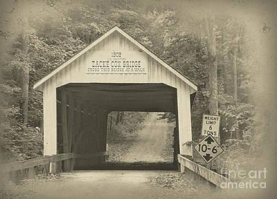 Indiana Landscapes Digital Art - Zack Cox Bridge by Robert Turner