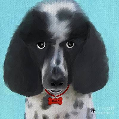 Painting - Zack The Poodle by Tammy Lee Bradley