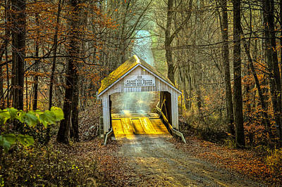 Music Royalty-Free and Rights-Managed Images - Zacke Cox Covered Bridge by Jack R Perry