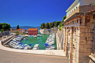 Photograph - Zadar City Gate And Fosa Harbor View by Brch Photography