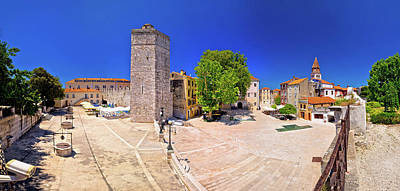 Photograph - Zadar Five Wells Square And Historic Architecture Panoramic View by Brch Photography