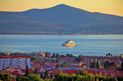Photograph - Zadar Waterfront And Ugljan Island Sunset View by Brch Photography
