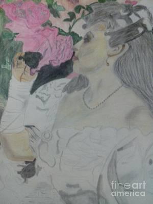 Rosen Painting - Zaertlicher Augenblick by Alexander Christian Schilder