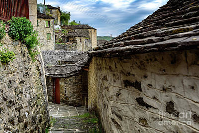 Photograph - Zagori Village Streetscape, Zagori, Greece by Global Light Photography - Nicole Leffer