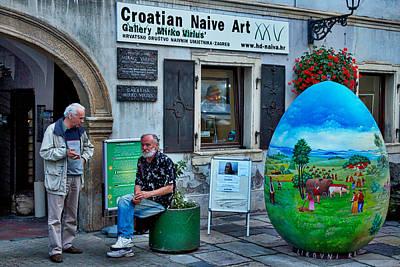 Outsider Art Photograph - Zagreb Art Gallery - Croatia by Stuart Litoff