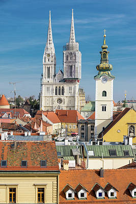Photograph - Zagreb Cathedral And St. Mary's Church by Steven Richman