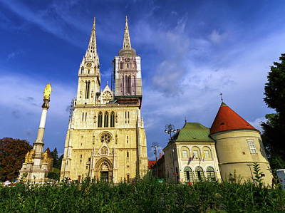 Photograph - Zagreb Cathedral, Croatia by Elenarts - Elena Duvernay photo