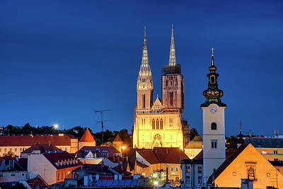 Photograph - Zagreb Cathedral by Fabrizio Troiani
