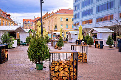 Photograph - Zagreb Christmas Market Advent View by Brch Photography