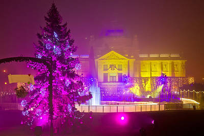Photograph - Zagreb In Christmas Lights Evening View by Brch Photography