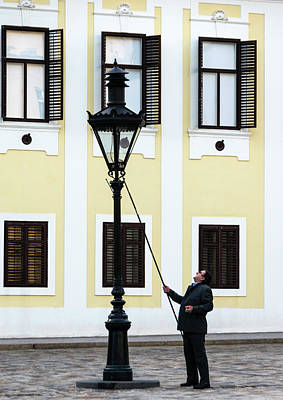 Photograph - Zagreb Lamplighter by Steven Richman