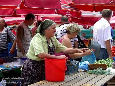Photograph - Zagreb Market by Joan  Minchak