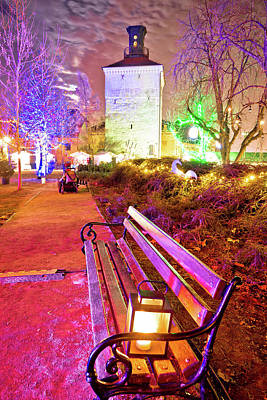 Photograph - Zagreb Upper Town Advent Market In Park by Brch Photography