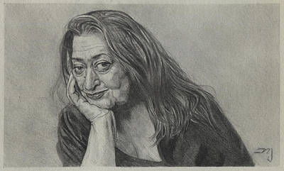 Painting - Zaha Hadid - Iraqi-british Architect - 1950 - 2016    by Daniil Yakubovich
