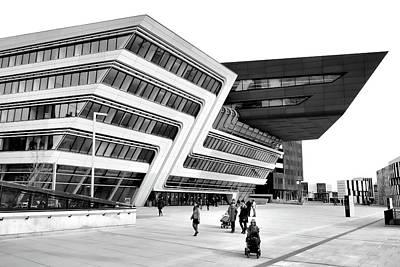 Photograph - Zaha Hadid Library Center Wu Campus Vienna by Menega Sabidussi