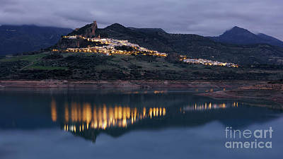 Photograph - Zahara De La Sierra At Dusk Cadiz Spain by Pablo Avanzini