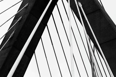 Photograph - Zakim 5 High Contrast by Mary Bedy