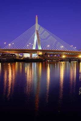 Zakim At Twilight II Art Print by Rick Berk