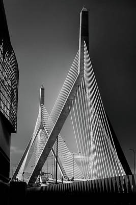 Photograph - Zakim Bridge 3 - Boston by Joann Vitali