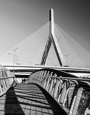 Photograph - Zakim Bridge And Walkway Boston, Ma by Betty Denise
