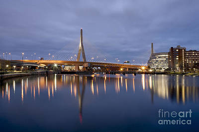 Photograph - Zakim Bridge Blue Hour 2 by Kimberly Nyce