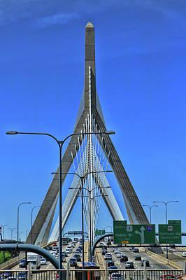 Photograph - Zakim Bridge - Boston by Allen Beatty