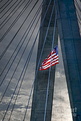 Zakim Bridge Boston Print by Elena Elisseeva