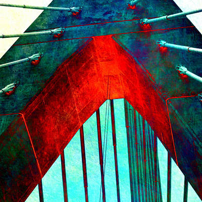 Zakim Bridge Boston V5 Art Print by Brandi Fitzgerald