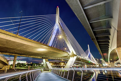 Photograph - Zakim Bridge From Bridge Under Another Bridge by Val Black Russian Tourchin