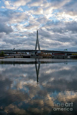 Photograph - Zakim Bridge Sunrise by Kimberly Nyce