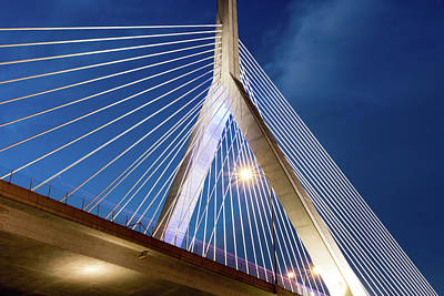 Photograph - Zakim Bridge Upclose by Val Black Russian Tourchin
