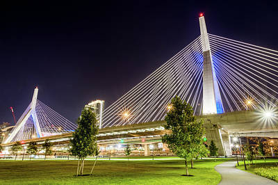 Photograph - Zakim Bridge by Val Black Russian Tourchin