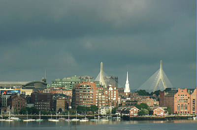 Zakim Bunker Hill Bridge Art Print