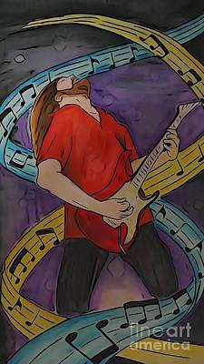 Jamming Digital Art - Zakk Illustration Edition by Justin Moore